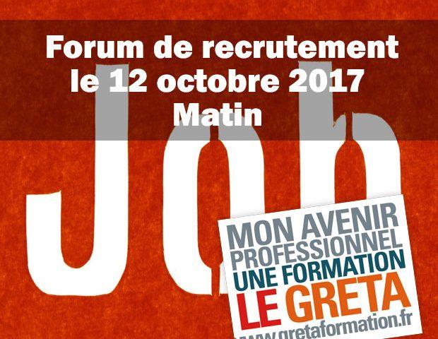 GRETA VIVA 5 – Forum de recrutement – Crest
